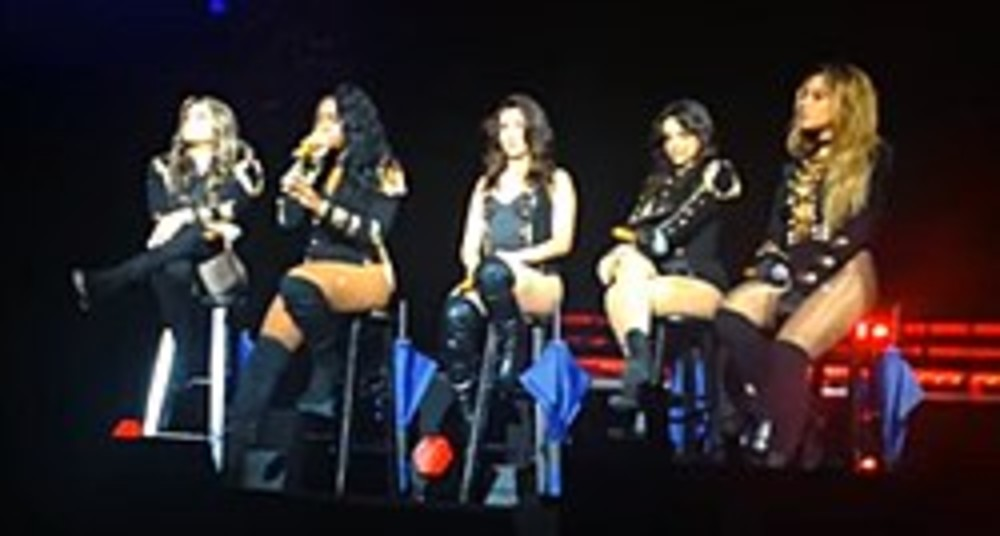 Fifth Harmony performing on their 7/27 Tour, in 2016.