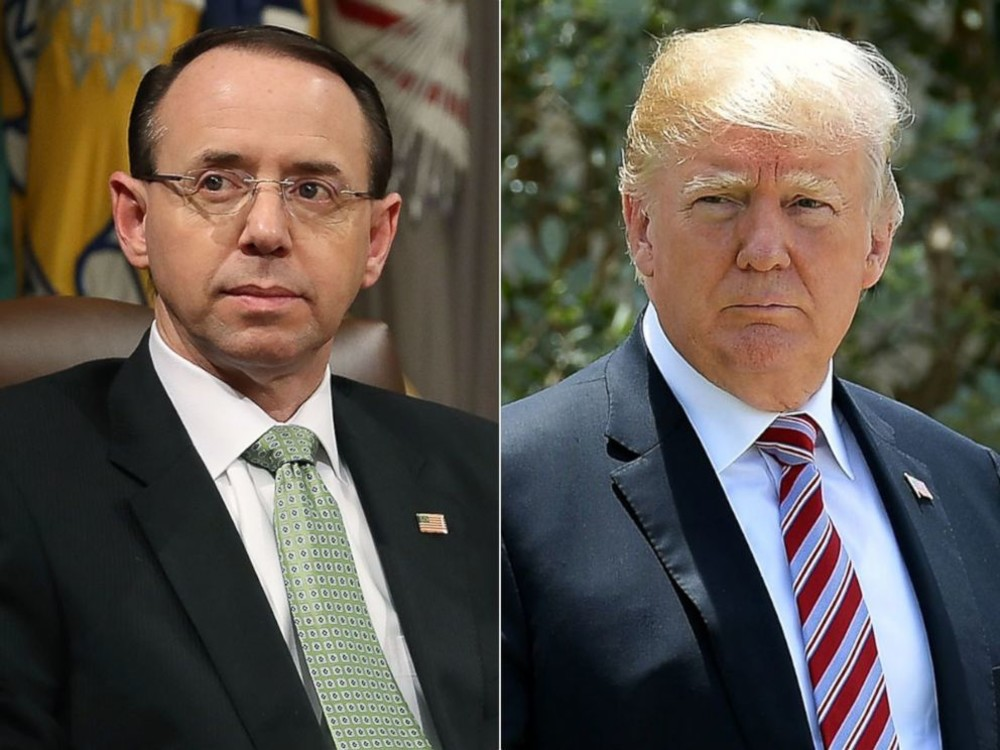 Deputy U.S. Attorney General, Rod Rosenstein participates in a summit, at  the Justice Department